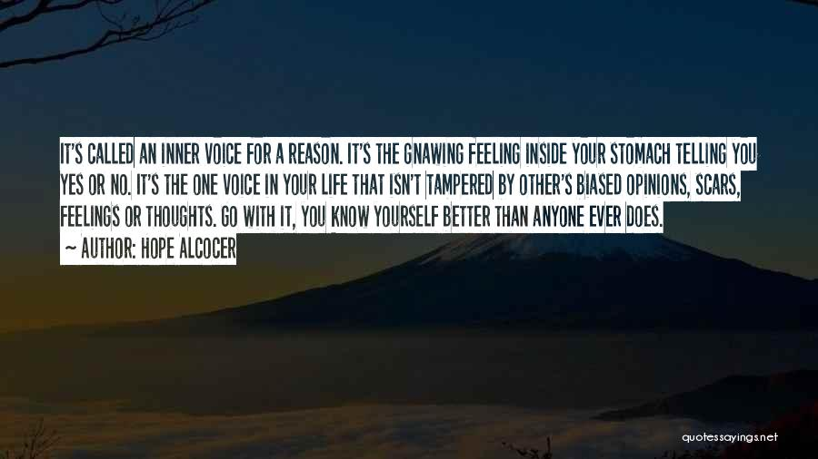 Your Inner Voice Quotes By Hope Alcocer
