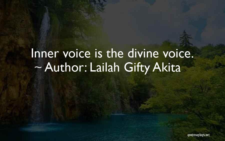 Your Inner Voice Quotes By Lailah Gifty Akita
