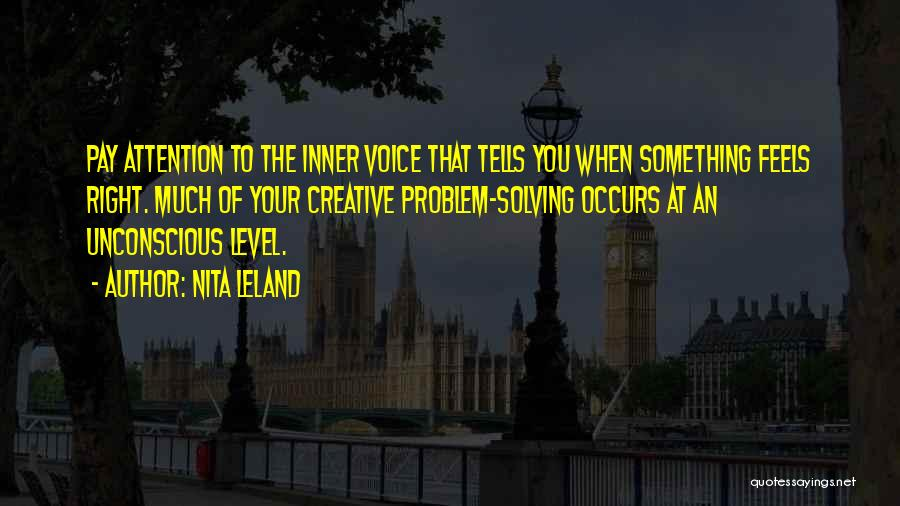Your Inner Voice Quotes By Nita Leland
