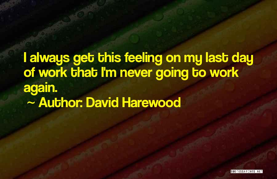 Your Last Day At Work Quotes By David Harewood
