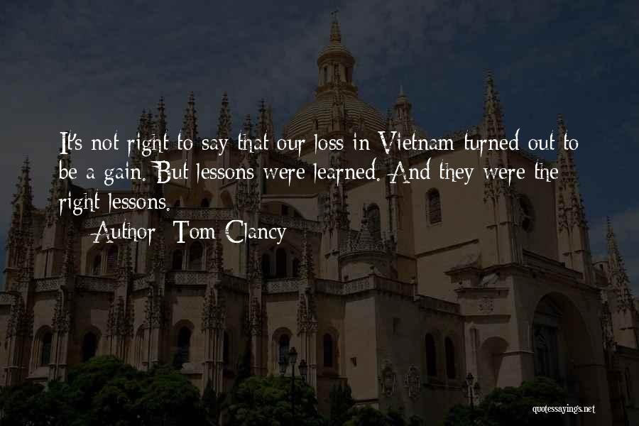 Your Loss Is My Gain Quotes By Tom Clancy