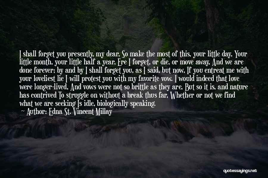 Your Love Moving Away Quotes By Edna St. Vincent Millay