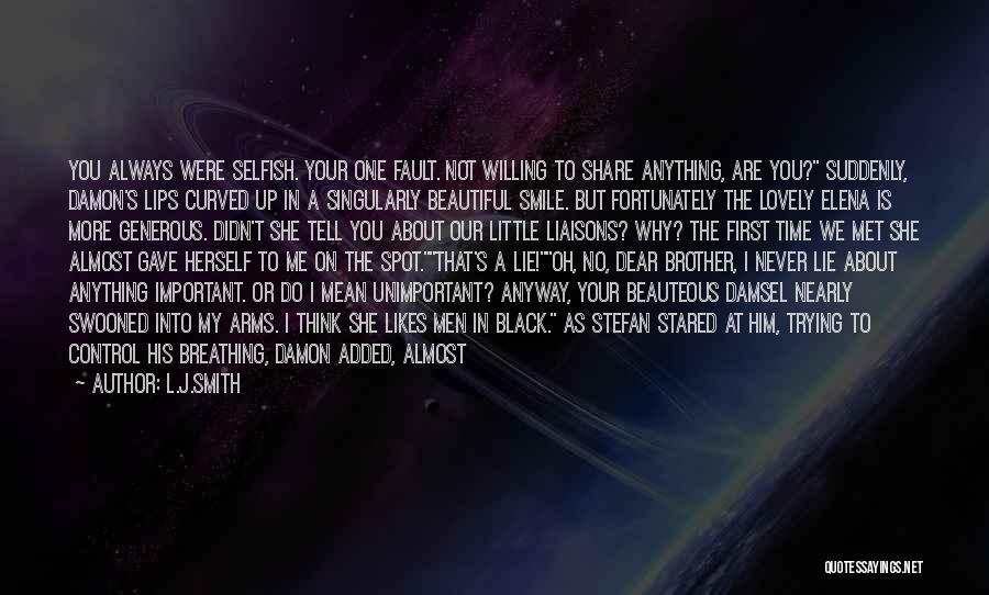 Your Lovely Smile Quotes By L.J.Smith