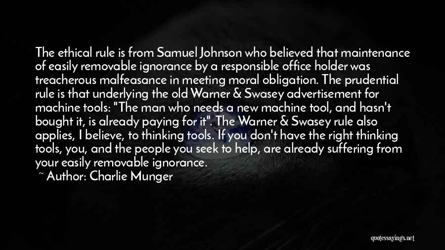 Your New Man Quotes By Charlie Munger