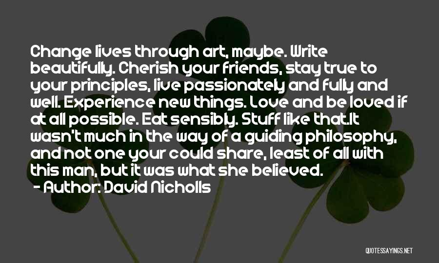 Your New Man Quotes By David Nicholls