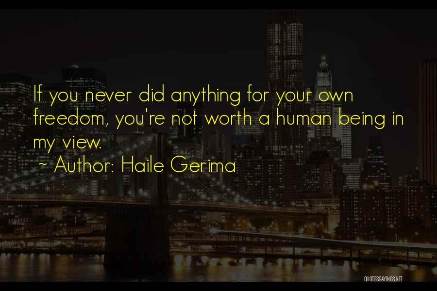 Your Not Worth Anything Quotes By Haile Gerima
