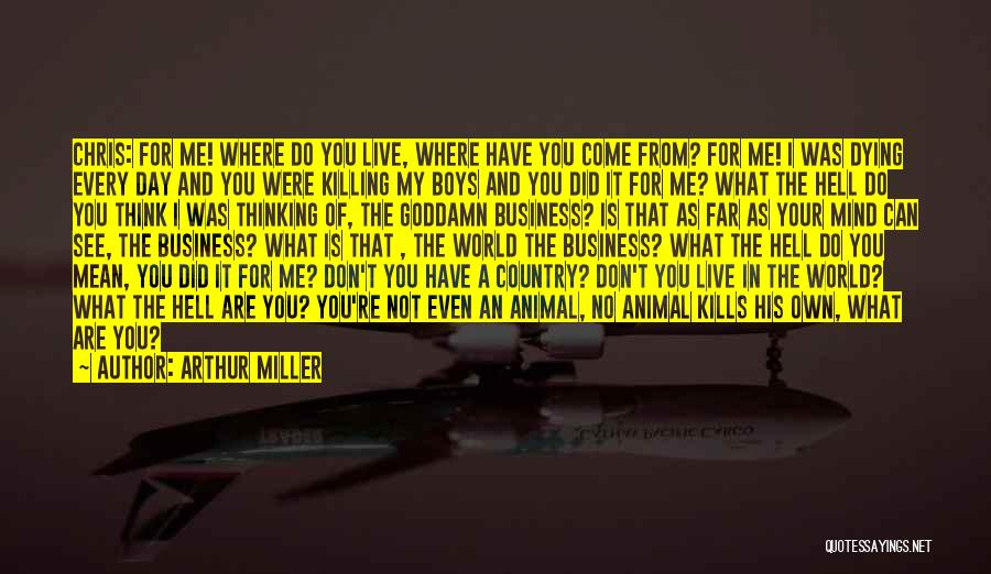 Your Own Mind Quotes By Arthur Miller