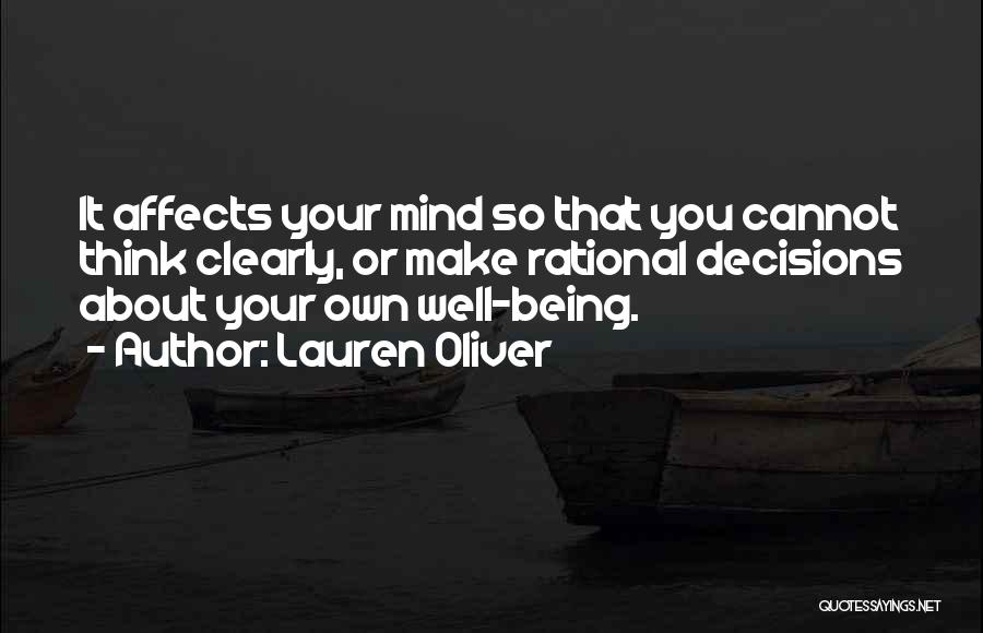 Your Own Mind Quotes By Lauren Oliver