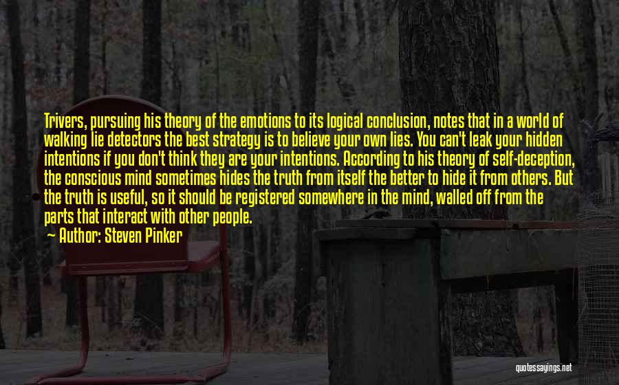 Your Own Mind Quotes By Steven Pinker