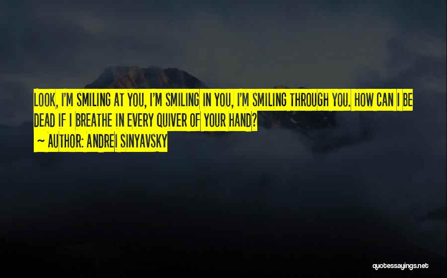 Your Smile Looks Quotes By Andrei Sinyavsky