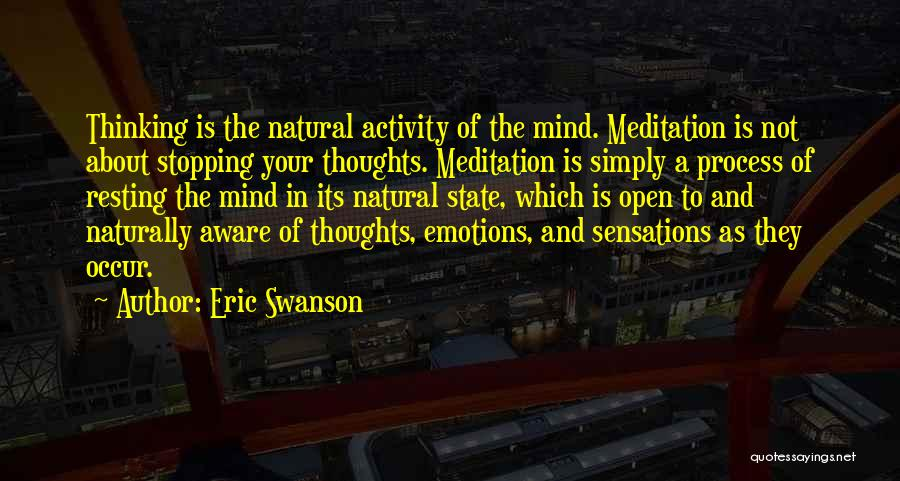Your State Of Mind Quotes By Eric Swanson