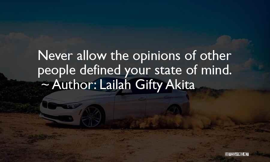 Your State Of Mind Quotes By Lailah Gifty Akita