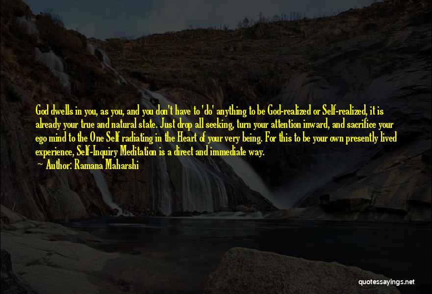 Your State Of Mind Quotes By Ramana Maharshi