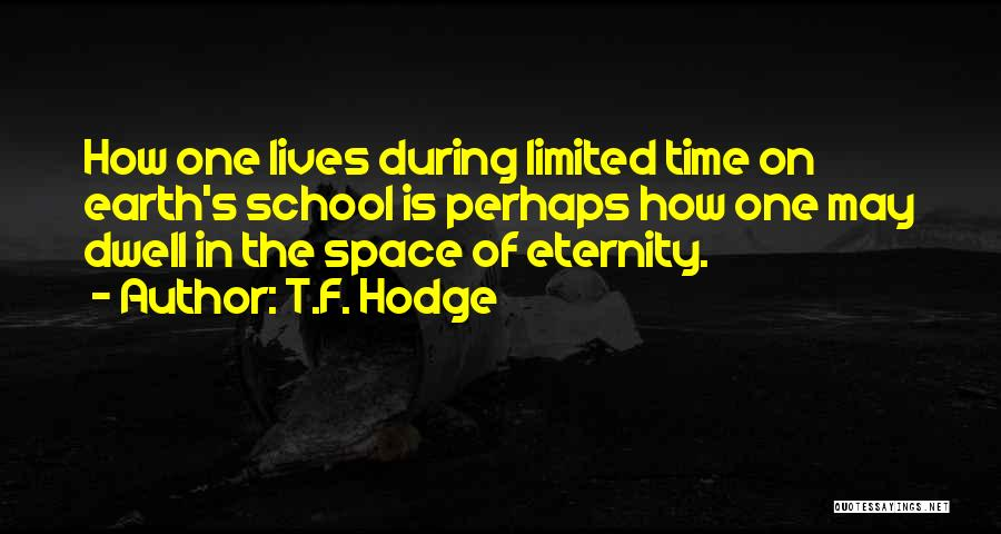 Your Time On Earth Is Limited Quotes By T.F. Hodge