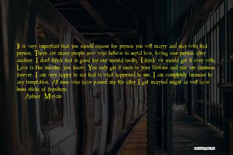 Your Very Important To Me Quotes By Miriam