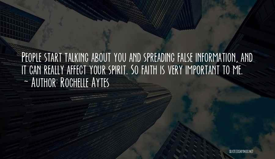 Your Very Important To Me Quotes By Rochelle Aytes