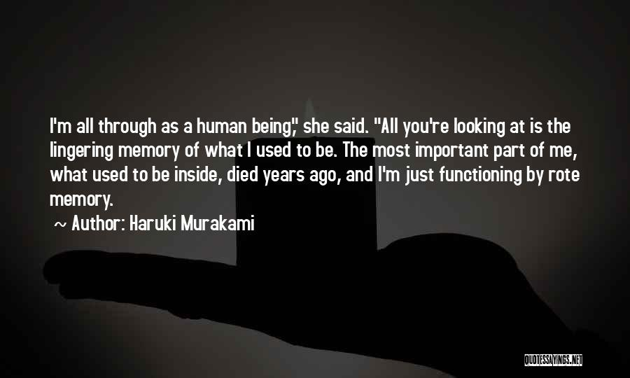 You're A Part Of Me Quotes By Haruki Murakami