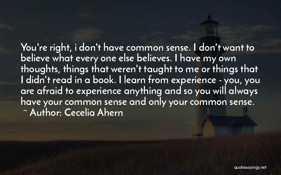 You're Always In My Thoughts Quotes By Cecelia Ahern