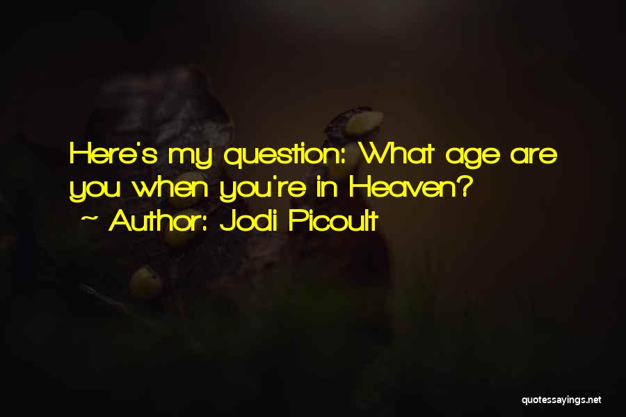 You're In Heaven Quotes By Jodi Picoult