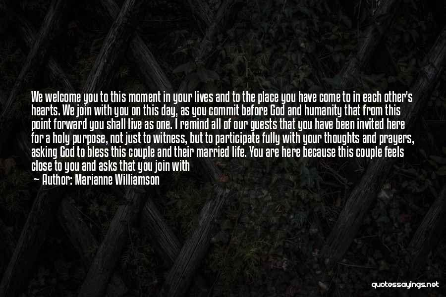 You're In Our Thoughts And Prayers Quotes By Marianne Williamson