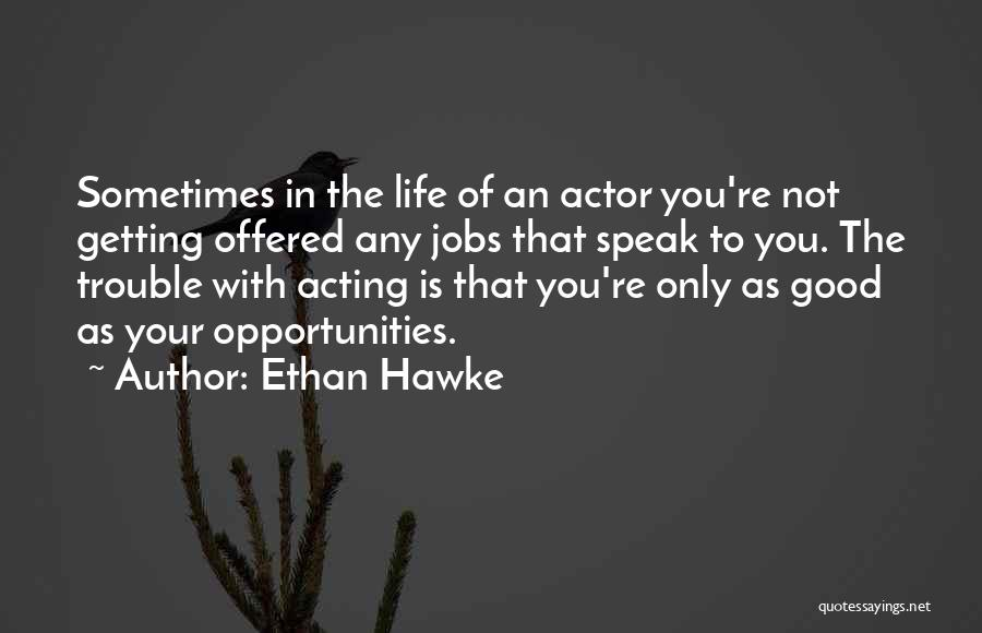 You're In Trouble Quotes By Ethan Hawke