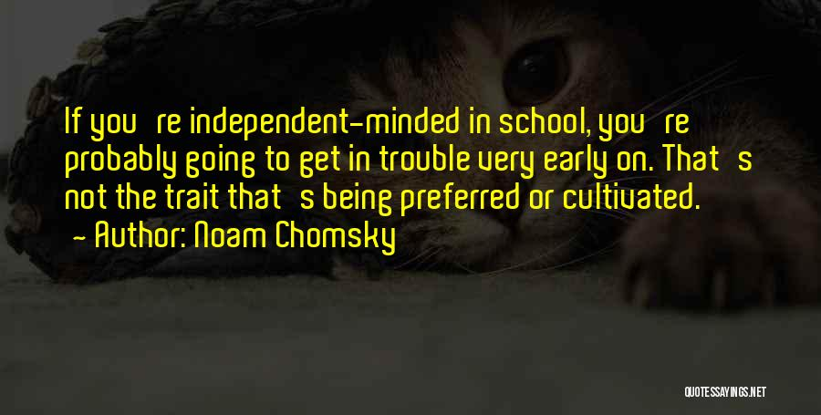 You're In Trouble Quotes By Noam Chomsky