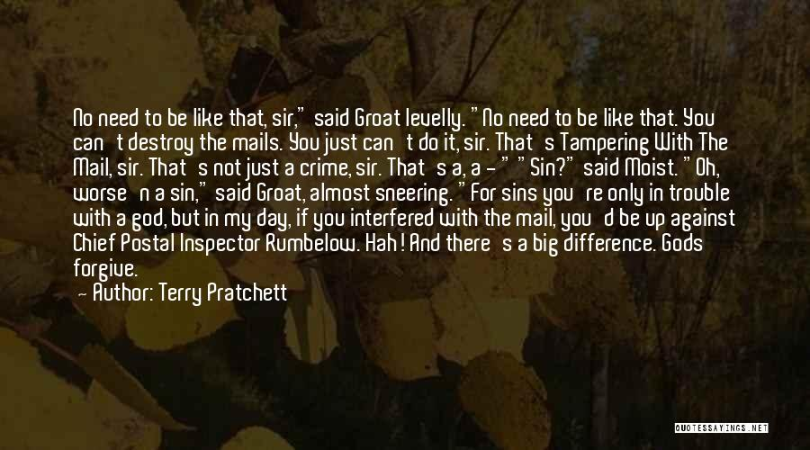 You're In Trouble Quotes By Terry Pratchett