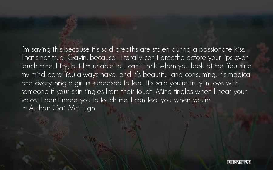 You're Mine Love Quotes By Gail McHugh