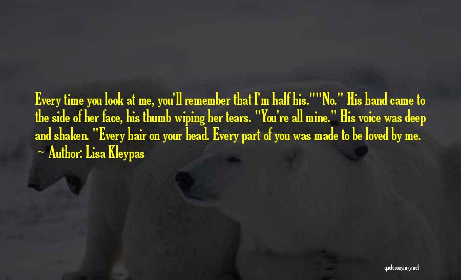 You're Mine Love Quotes By Lisa Kleypas