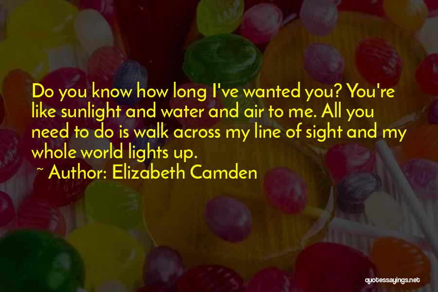 You're My World Love Quotes By Elizabeth Camden