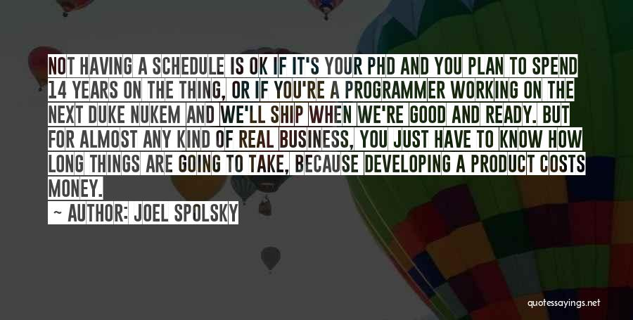 You're Not Ok Quotes By Joel Spolsky