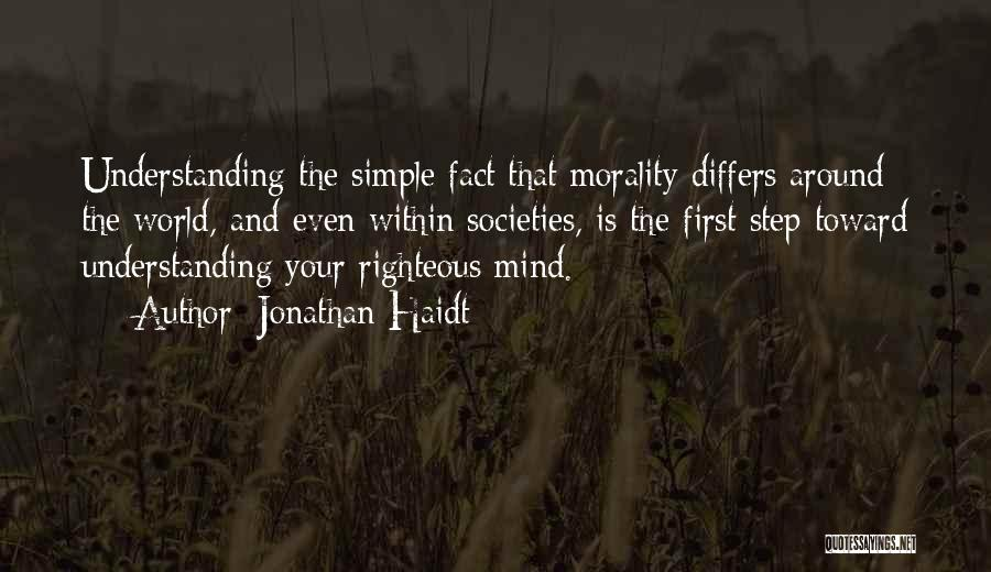 You're The First Thing On My Mind Quotes By Jonathan Haidt