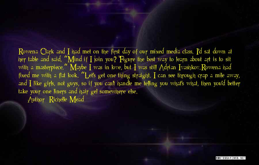 You're The First Thing On My Mind Quotes By Richelle Mead
