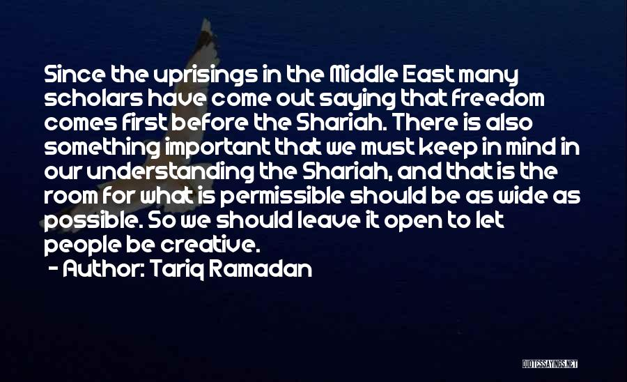 You're The First Thing On My Mind Quotes By Tariq Ramadan