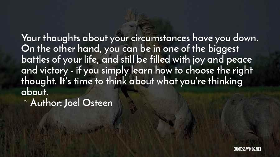 You're The Right One Quotes By Joel Osteen