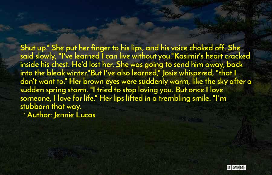 You've Lost Him Quotes By Jennie Lucas
