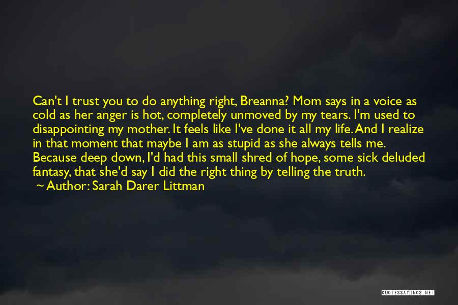 You've Used Me Quotes By Sarah Darer Littman