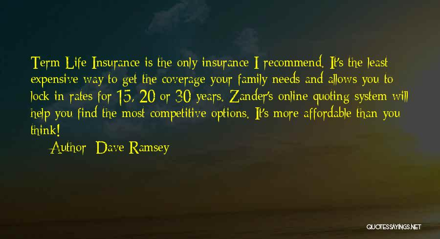 Zander Term Life Insurance Quotes By Dave Ramsey