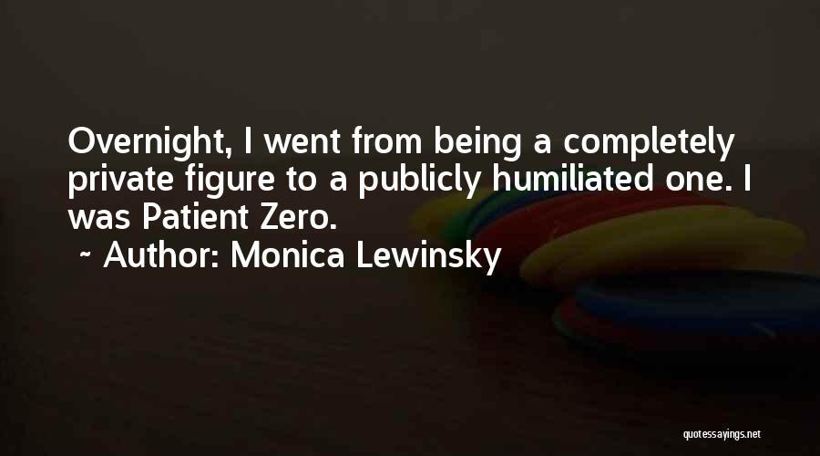 Zero Figure Quotes By Monica Lewinsky
