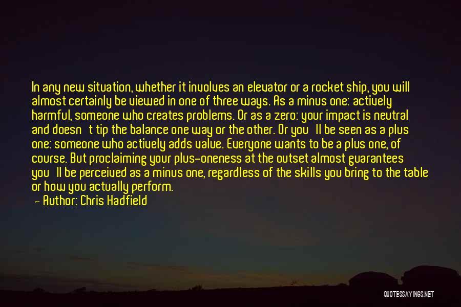 Zero The Third Quotes By Chris Hadfield