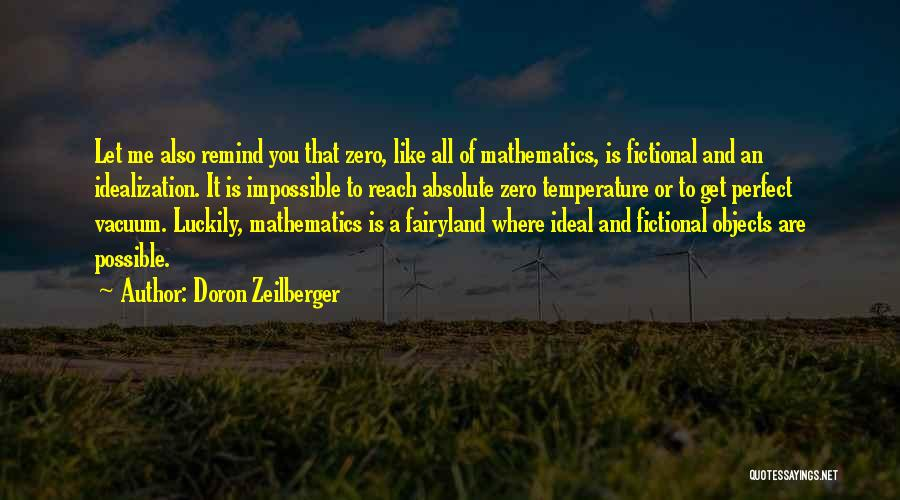 Zero The Third Quotes By Doron Zeilberger