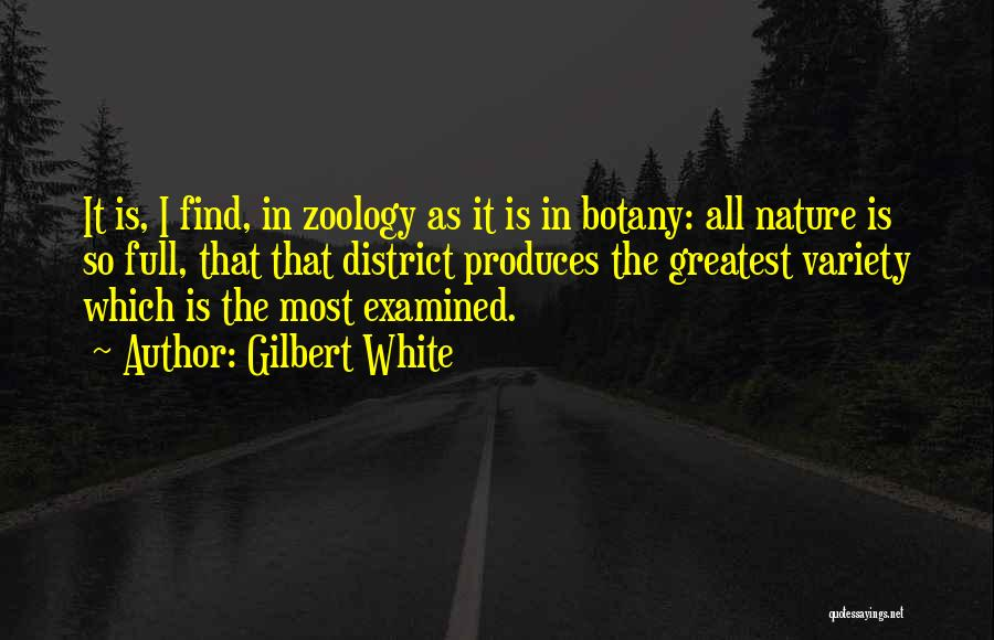 Zoology Quotes By Gilbert White