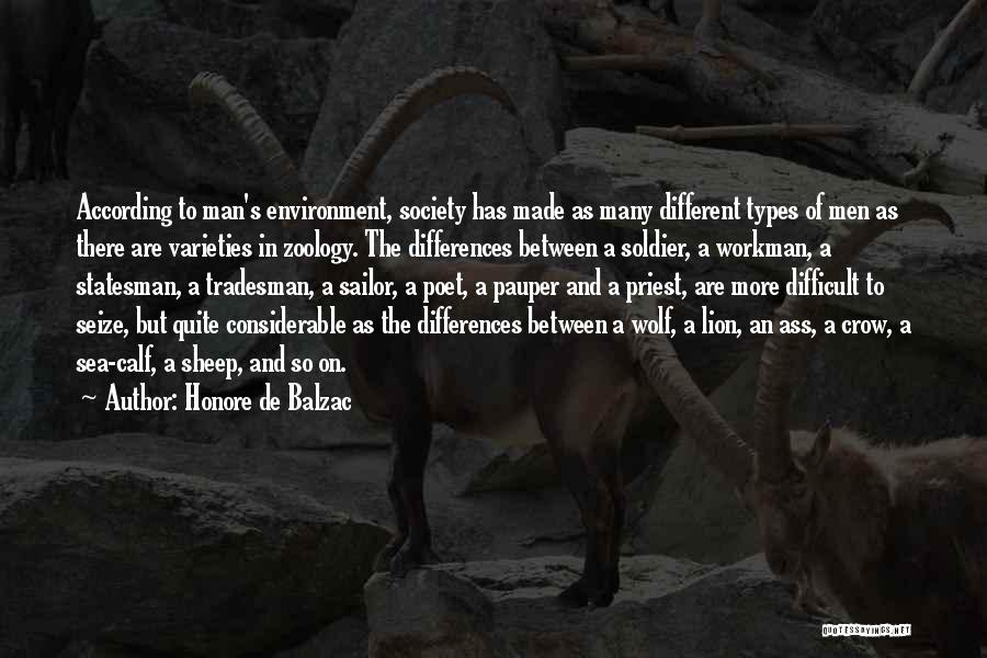 Zoology Quotes By Honore De Balzac