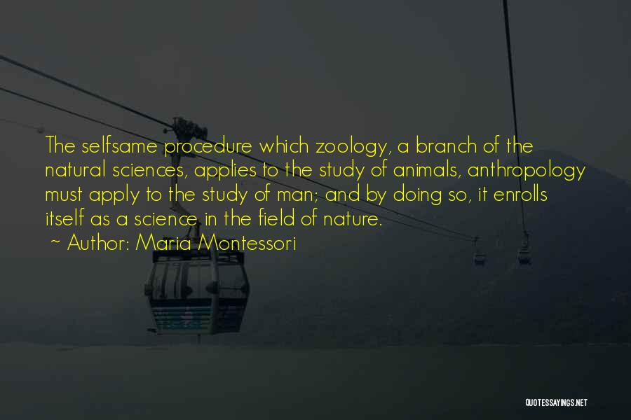Zoology Quotes By Maria Montessori