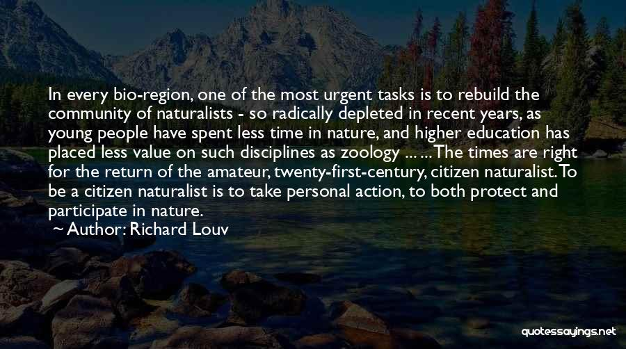 Zoology Quotes By Richard Louv