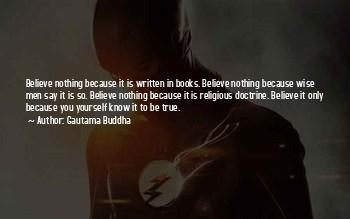 Believe Nothing Buddha Quotes