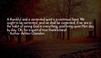 Thankful And Contented Quotes